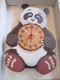 Panda Hand Made Wooden Clock
